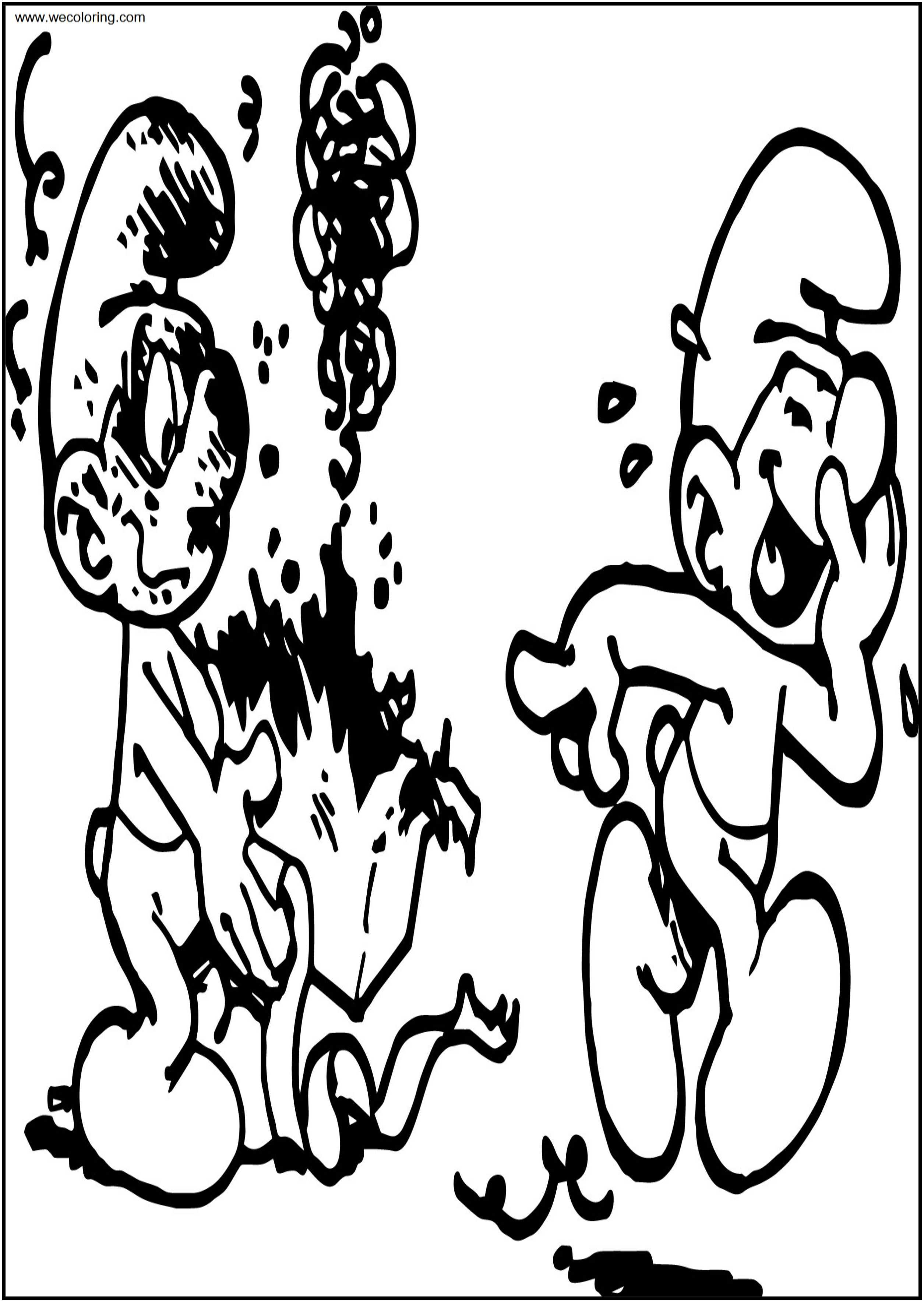 Jokey Smurf Box Gift Free Printable Coloring Page