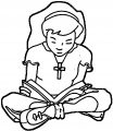 Kids Bible Clipart Kids Coloring Page