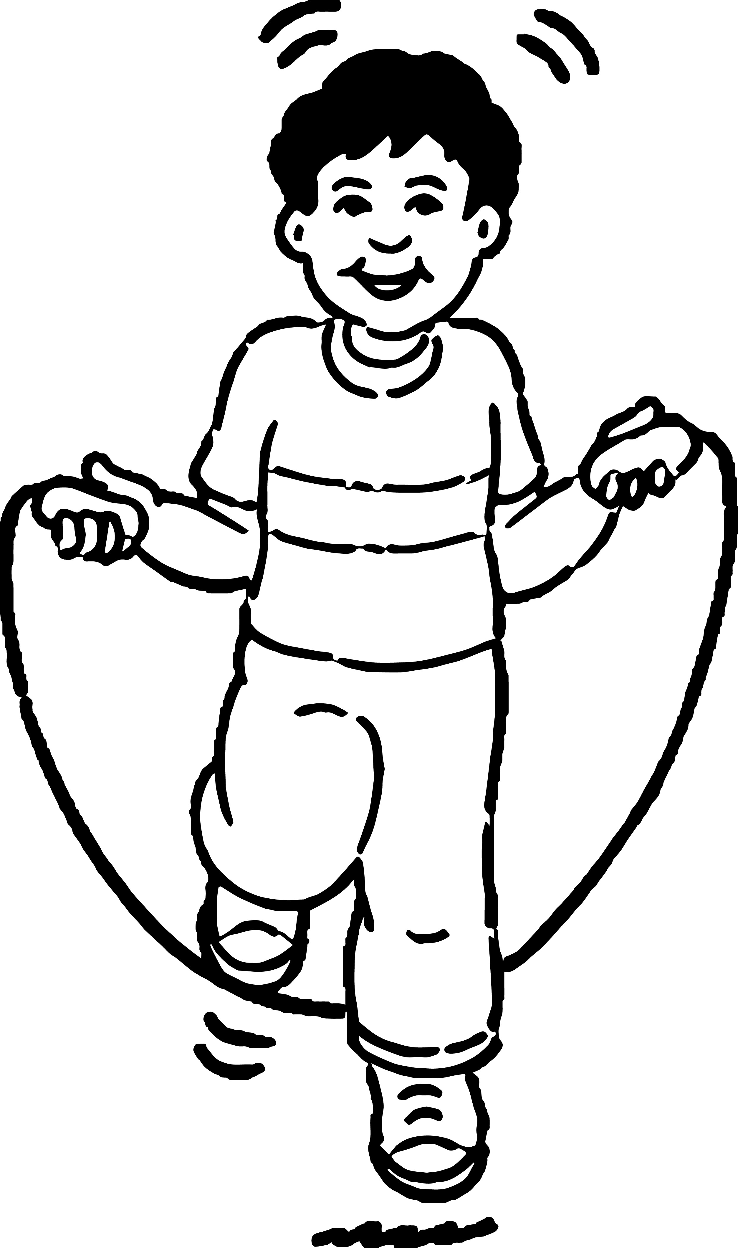 Kids Clipart 220 Kids Coloring Page