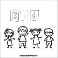 Kids Drawing Free Vector 225 264×264 Kids Coloring Page