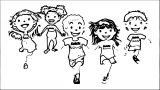 Kids Running Race 246 Kids Coloring Page