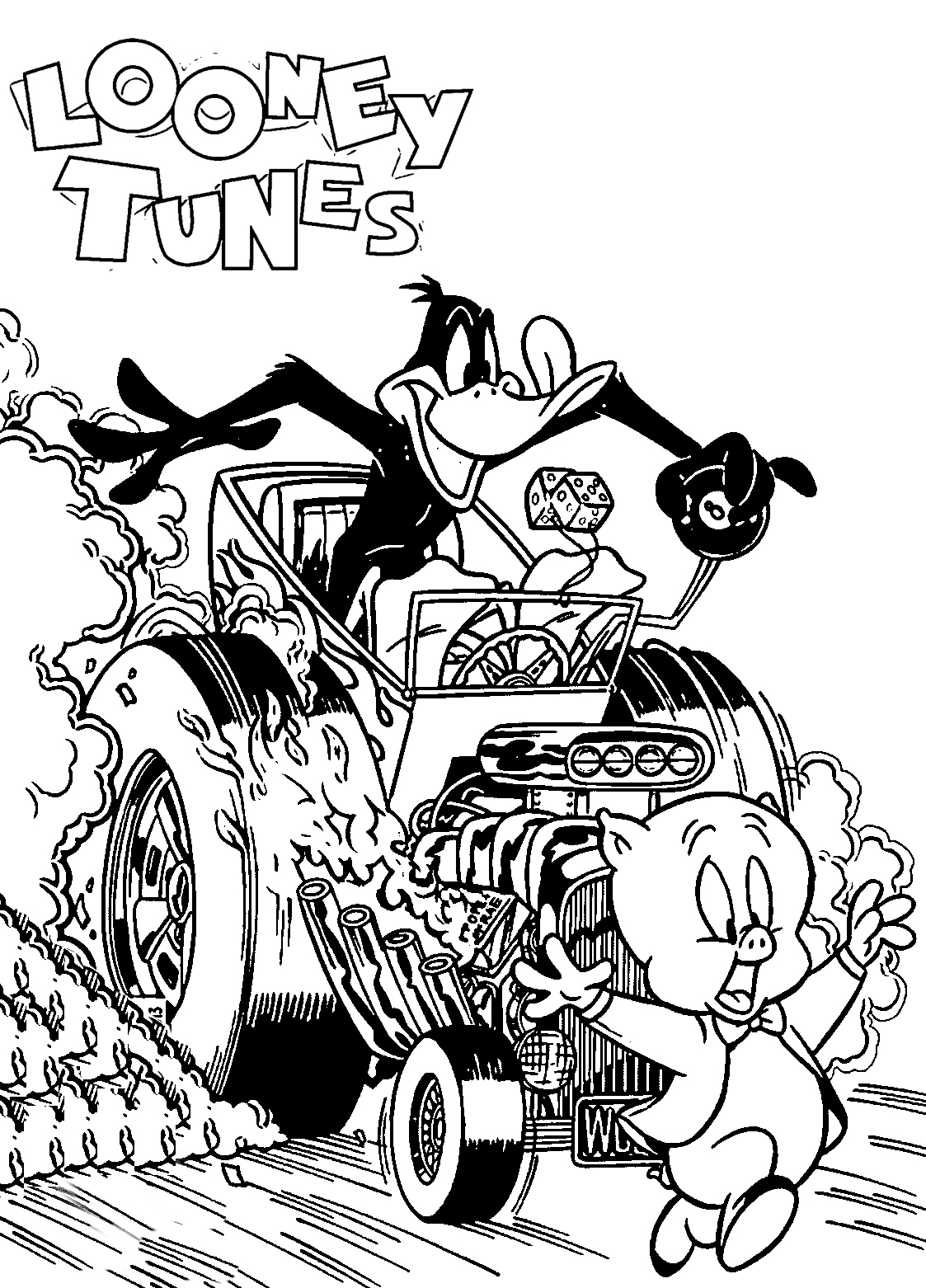 LooneyTunes 211 CVR The Looney Tunes Show Coloring Page