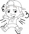 Luccas Neto Boy Joy Jump Coloring Page