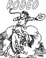 Lucky Luck Rodeo Coloring Page