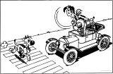 Lucky Luke Car Morris Rantanplan Coloring Page