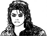 Michael Jackson Young Coloring Page