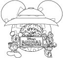 Mickey Animal King Domplain Coloring Page