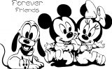 Mickey Minnie Forever Friends Coloring Page