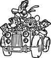 Mickey Mouse And Friends Going To Animal Kingdom With Car Coloring Page