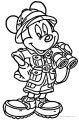 Mickey Mouse Cartoon Animal Kingdom Coloring Page