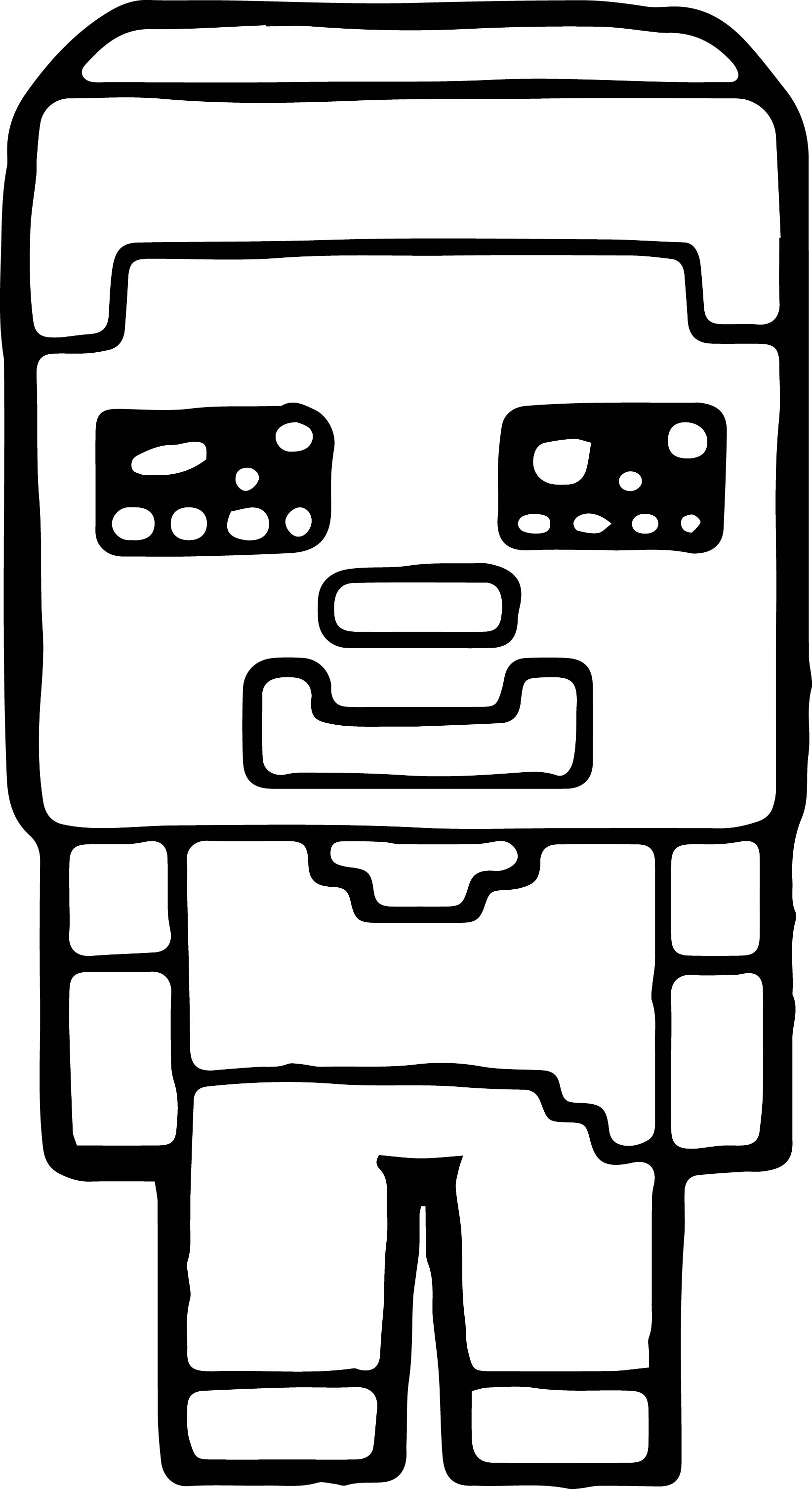 Minecraft-Easy-Coloring-Page