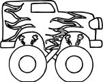 Monster Truck Coloring Page 06