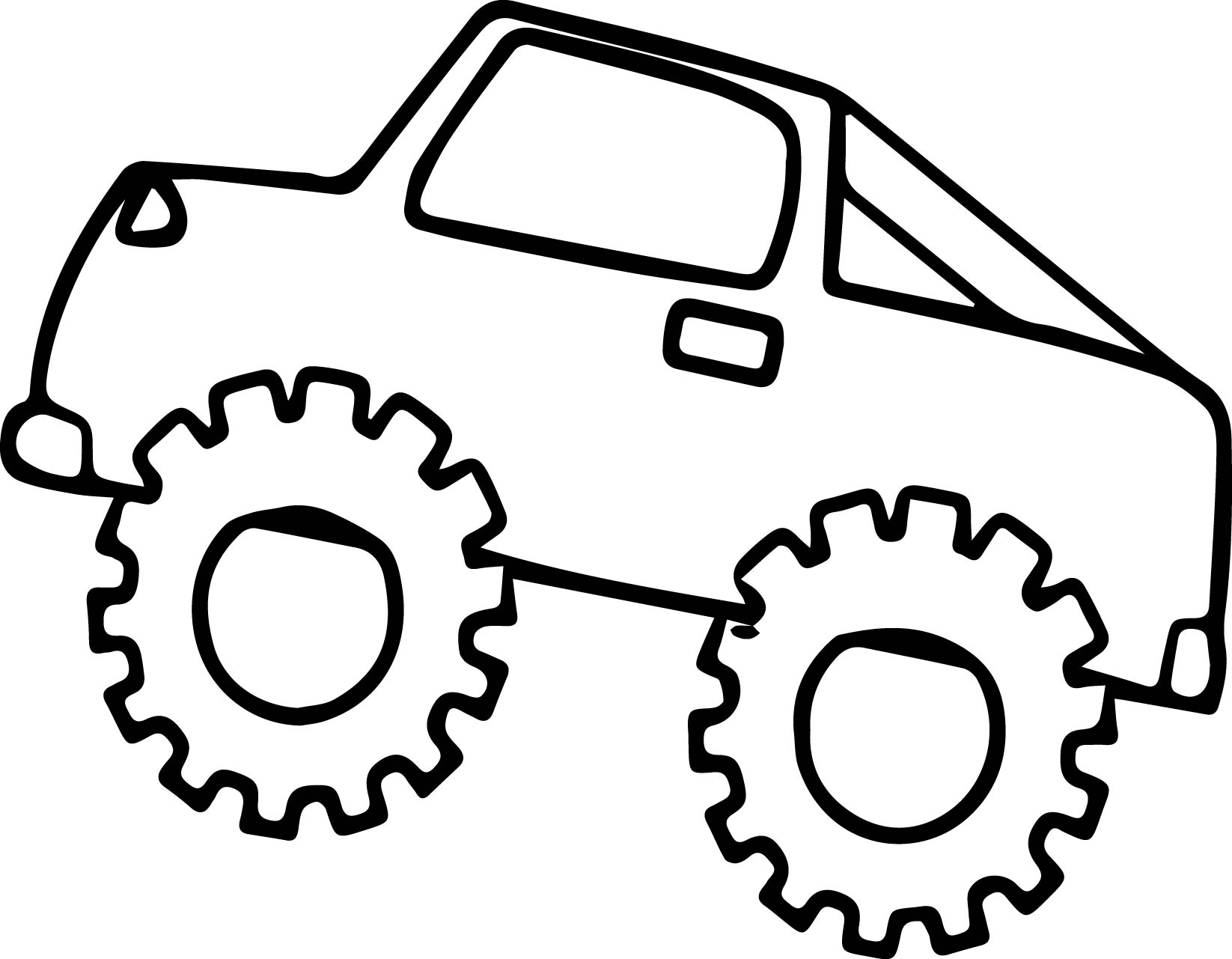 Monster Truck Coloring Page 08