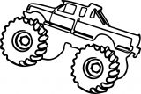 Monster Truck Coloring Page 09