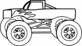 Monster Truck Coloring Page 12