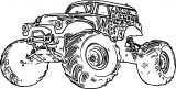 Monster Truck Coloring Page 13