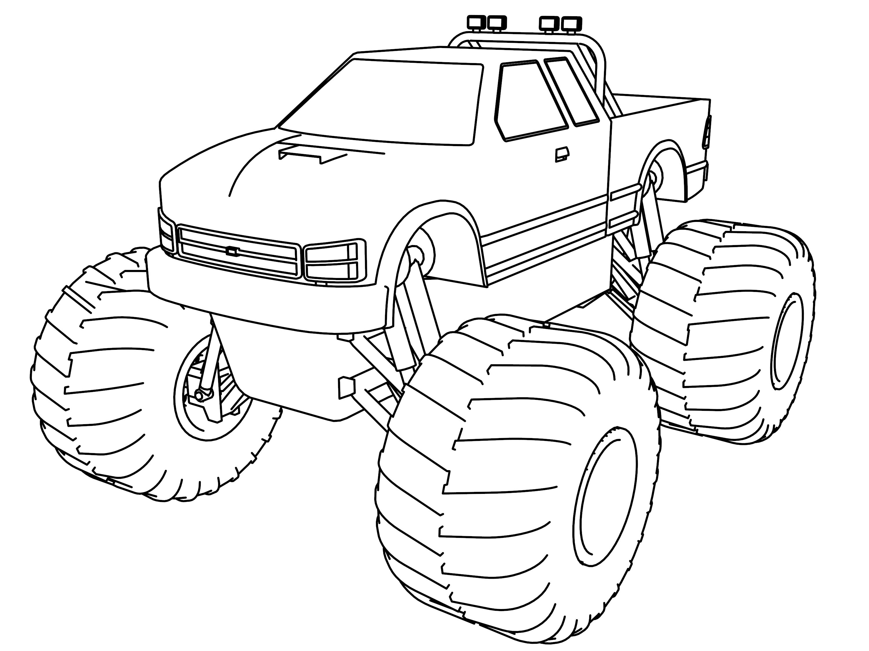 Monster truck coloring page