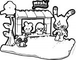 Moshi Monsters Coloring Page 25 Mega Brands Moshi Monster Toys