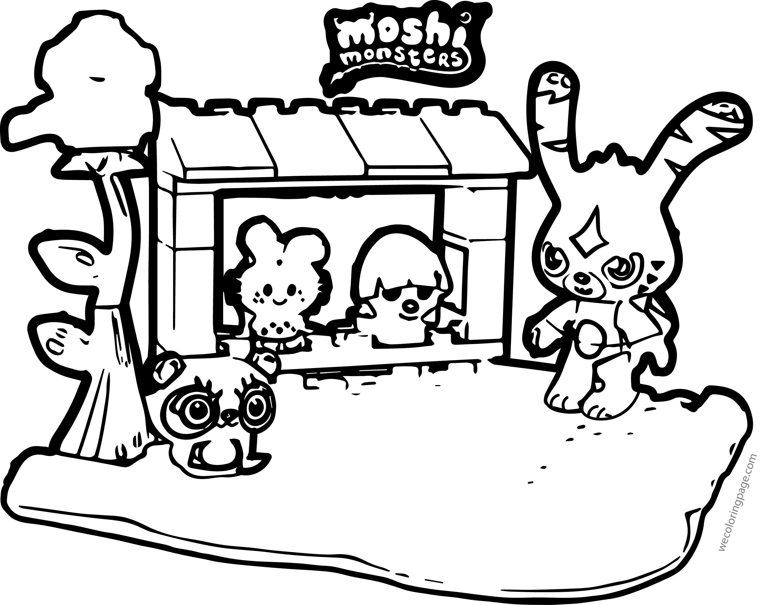 Moshi Monsters Coloring Page 25 Mega Brands Moshi Monster Toys