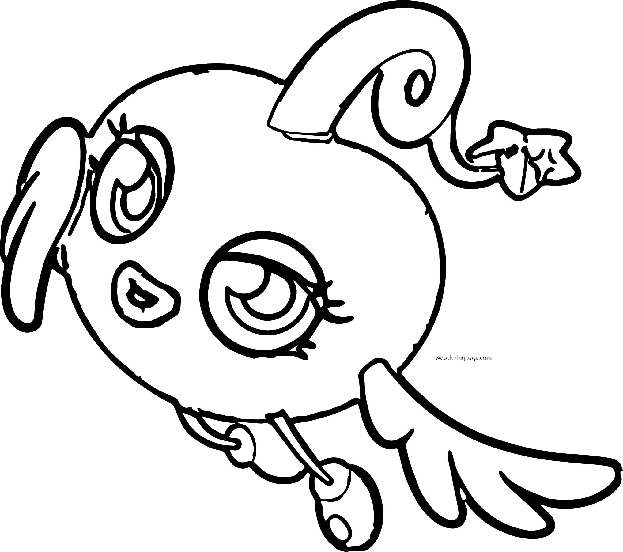 Moshi Monsters Girl Coloring Page