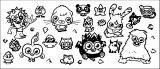 Moshi Monsters Sheet Coloring Page
