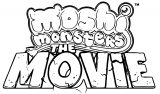 Moshi Monsters The Movie Logo Coloring Page