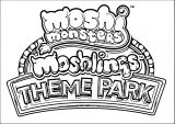 Moshi Monsters Theme Park Logo Coloring Page