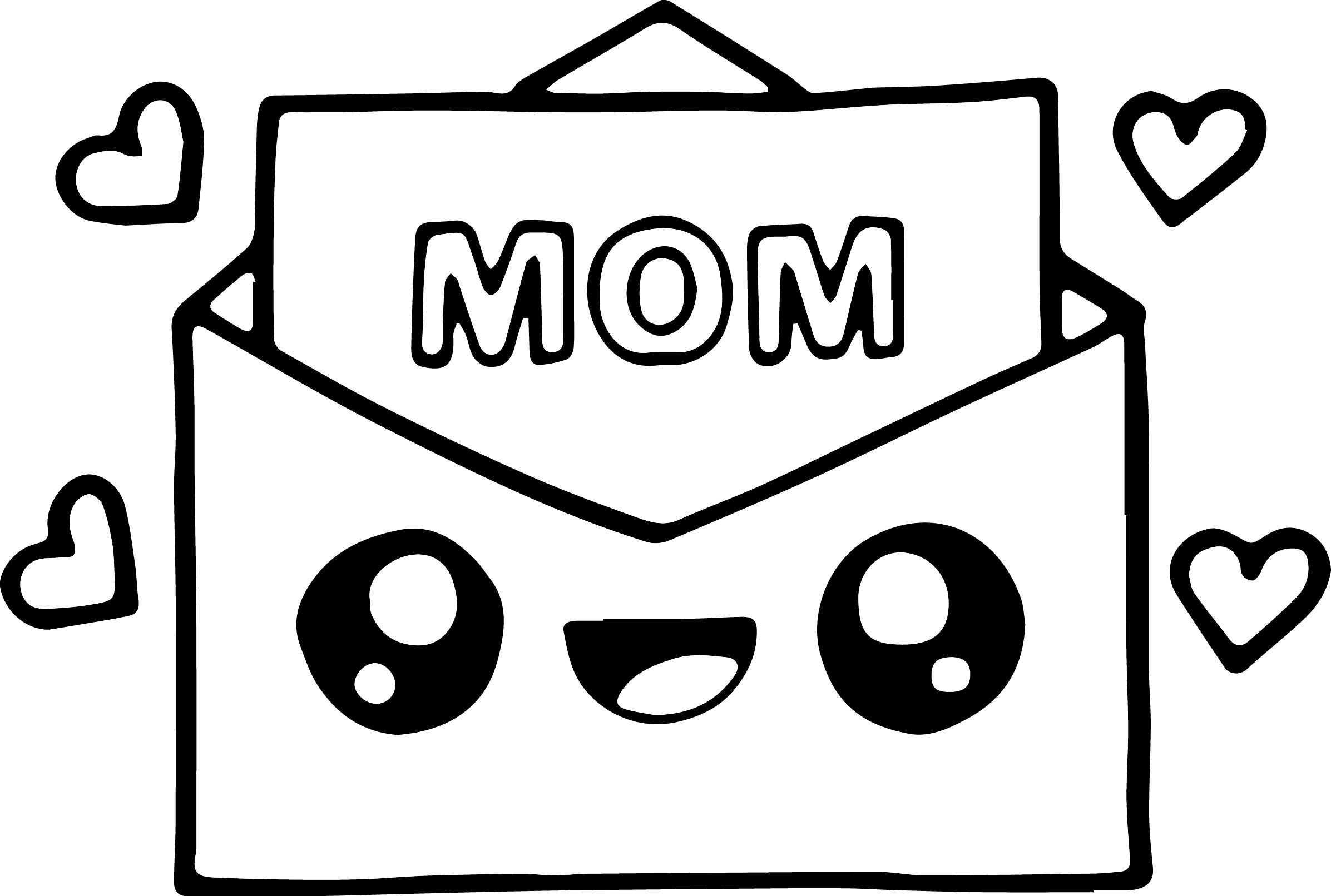 Mothers Day Card Making Coloring Page