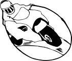 Motor racing coloring page