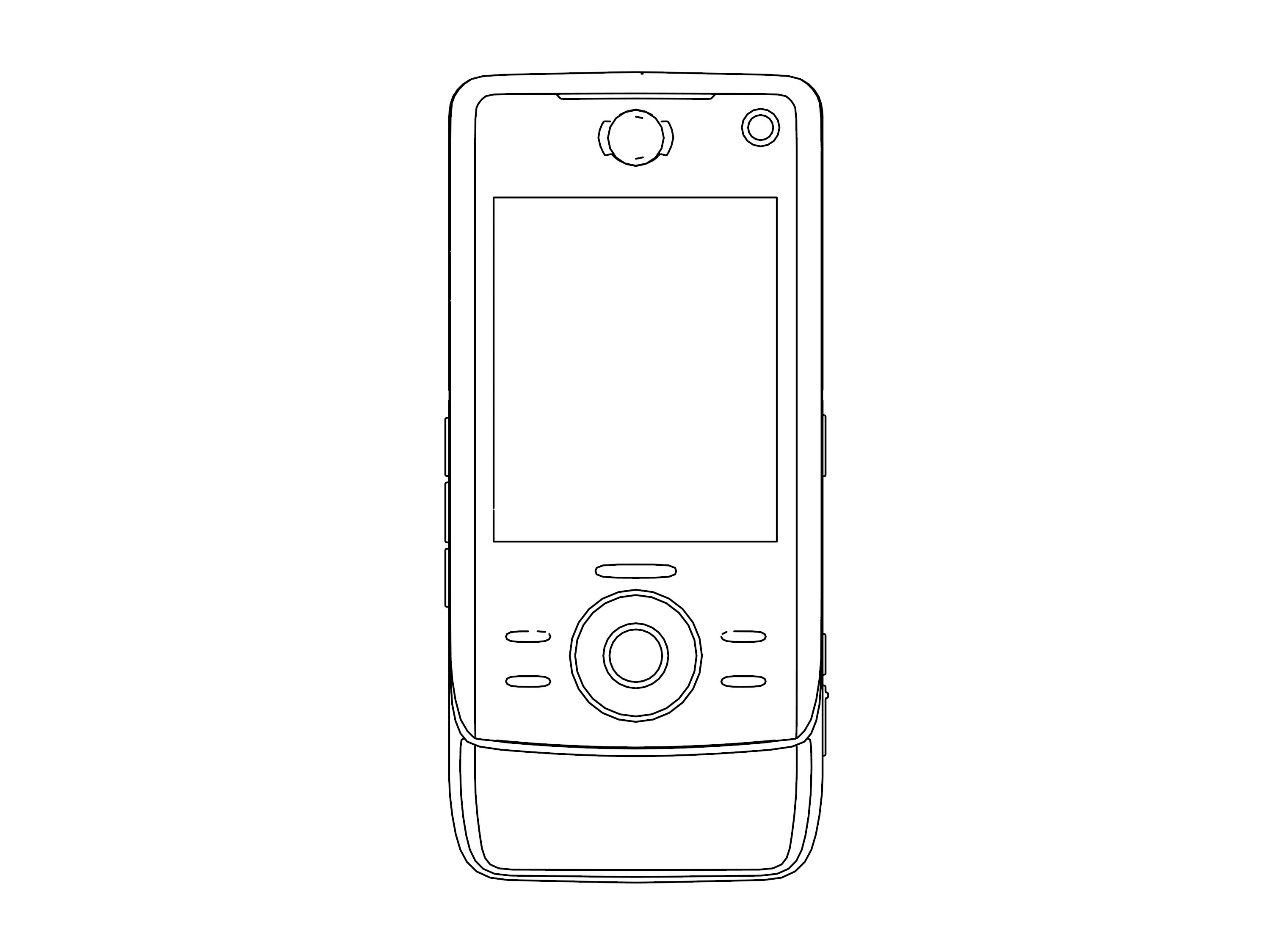 Motorola Z8 Phone Front View Coloring Page