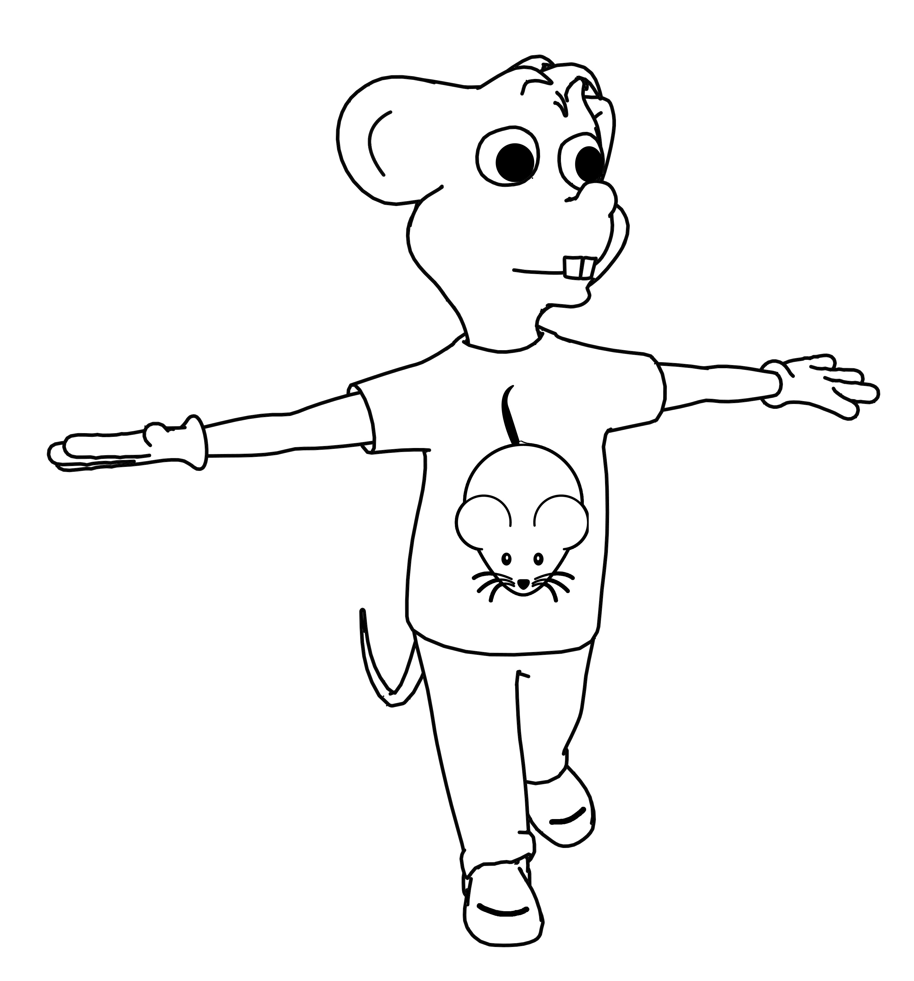 Mouse Toon Coloring Page