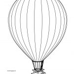 New Air Balloon Coloring Page