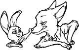 Nick Wilde Judy Hopps Bunny Fox Coloring Page 4