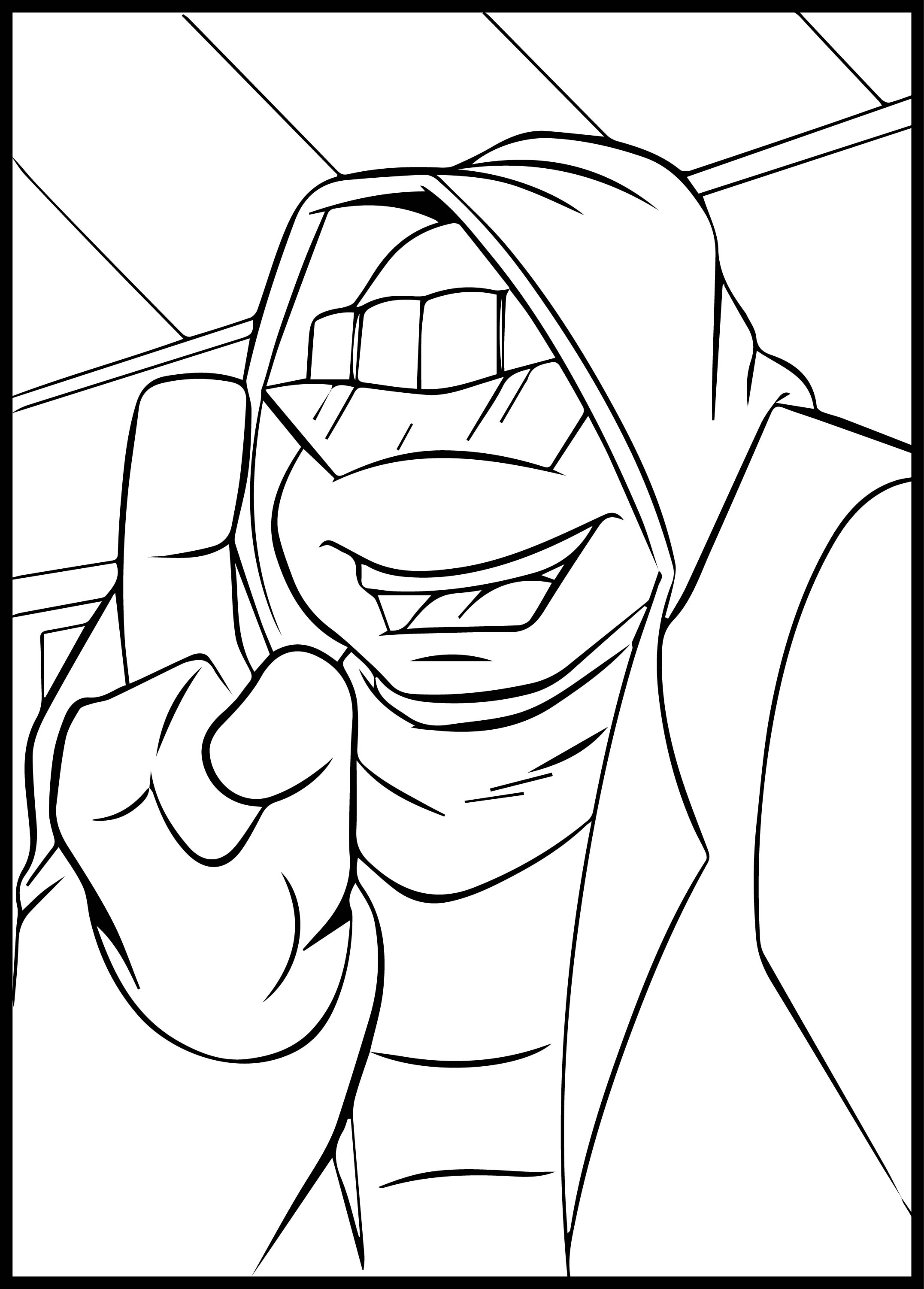 Ninja Coloring Pages Turtle 01