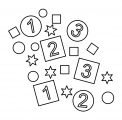 Number Box Circle Text Shape Coloring Page