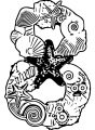 Number Eight Sea Style Coloring Page