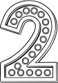 Number Two With Lights Coloring Page