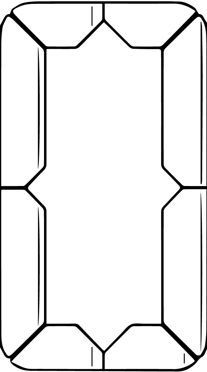 Number Zero Digital Style Coloring Page