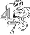 Numbers MTLezGRTa Coloring Page