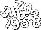 Numbers Math6 Coloring Page