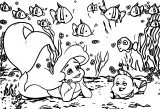 On Ariel Mermaid Coloring Page