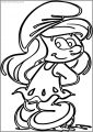 Outline Smurfette Free Printable Coloring Page