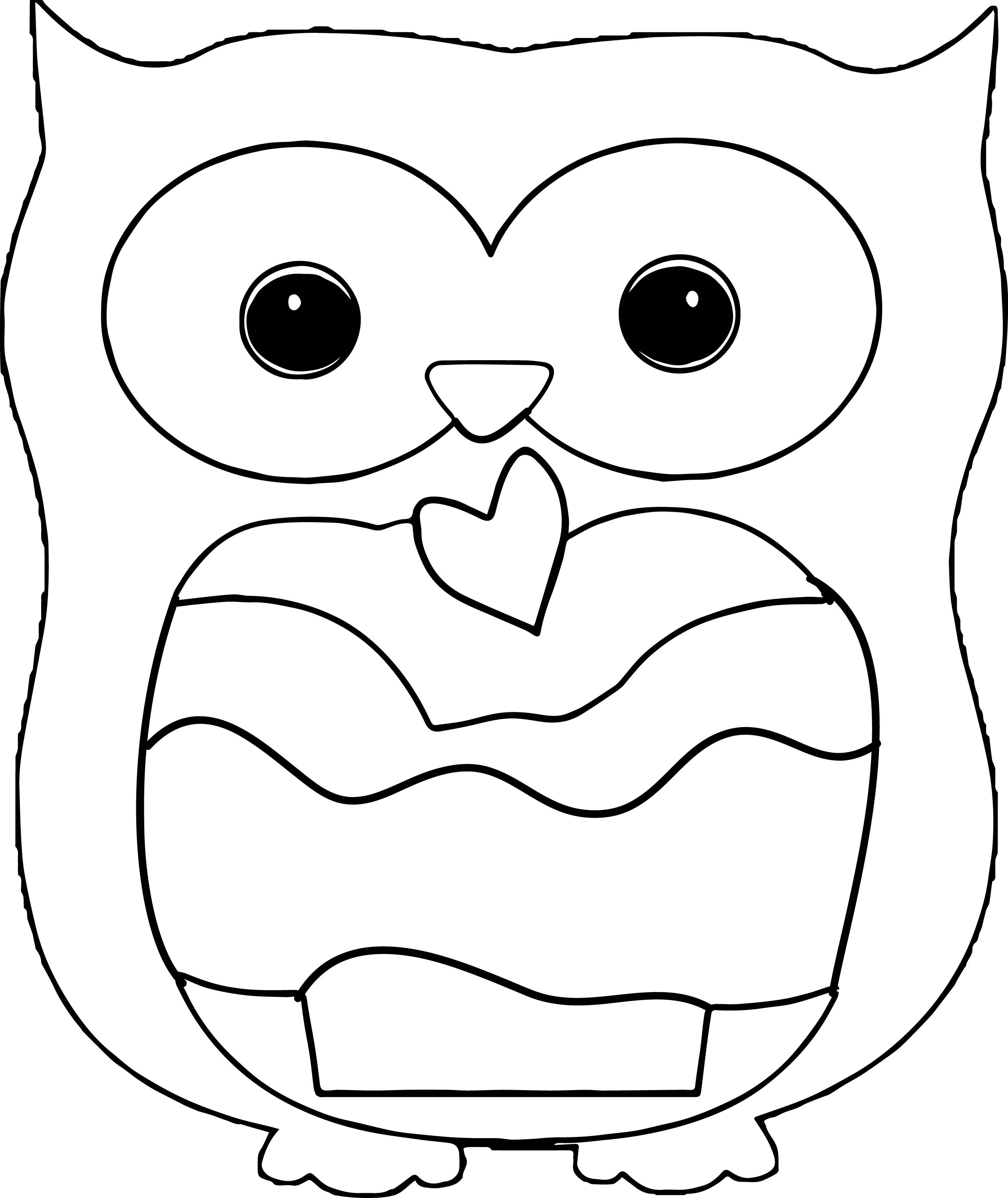 Owl Eating A Cupcake Coloring Page