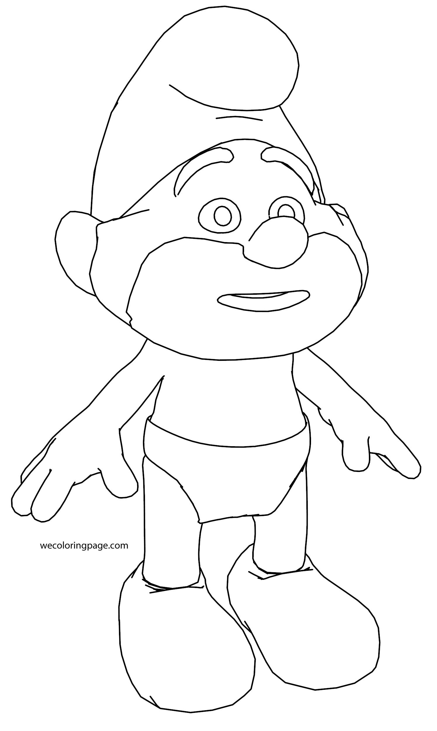 Papa Smurf Coloring Page 09