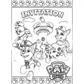 Paw Patrol Invitations Cx Coloring Page