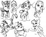 Paw Patrol Iron On Transfers Coloring Page