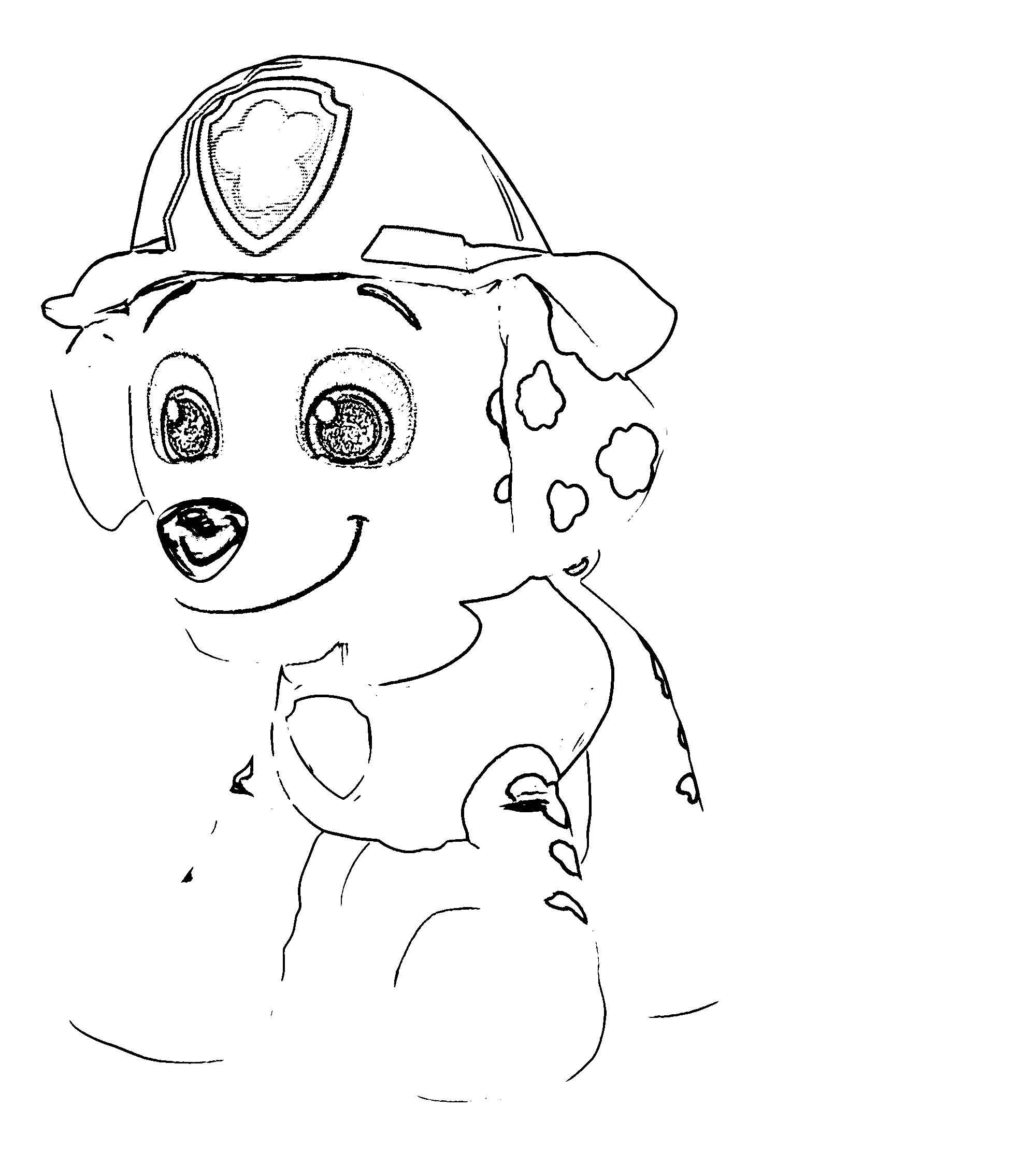 Paw Patrol Real Talking Marshall Msrp Coloring Page