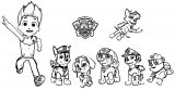 Paw Patrol Strip Wall Stickers Coloring Page
