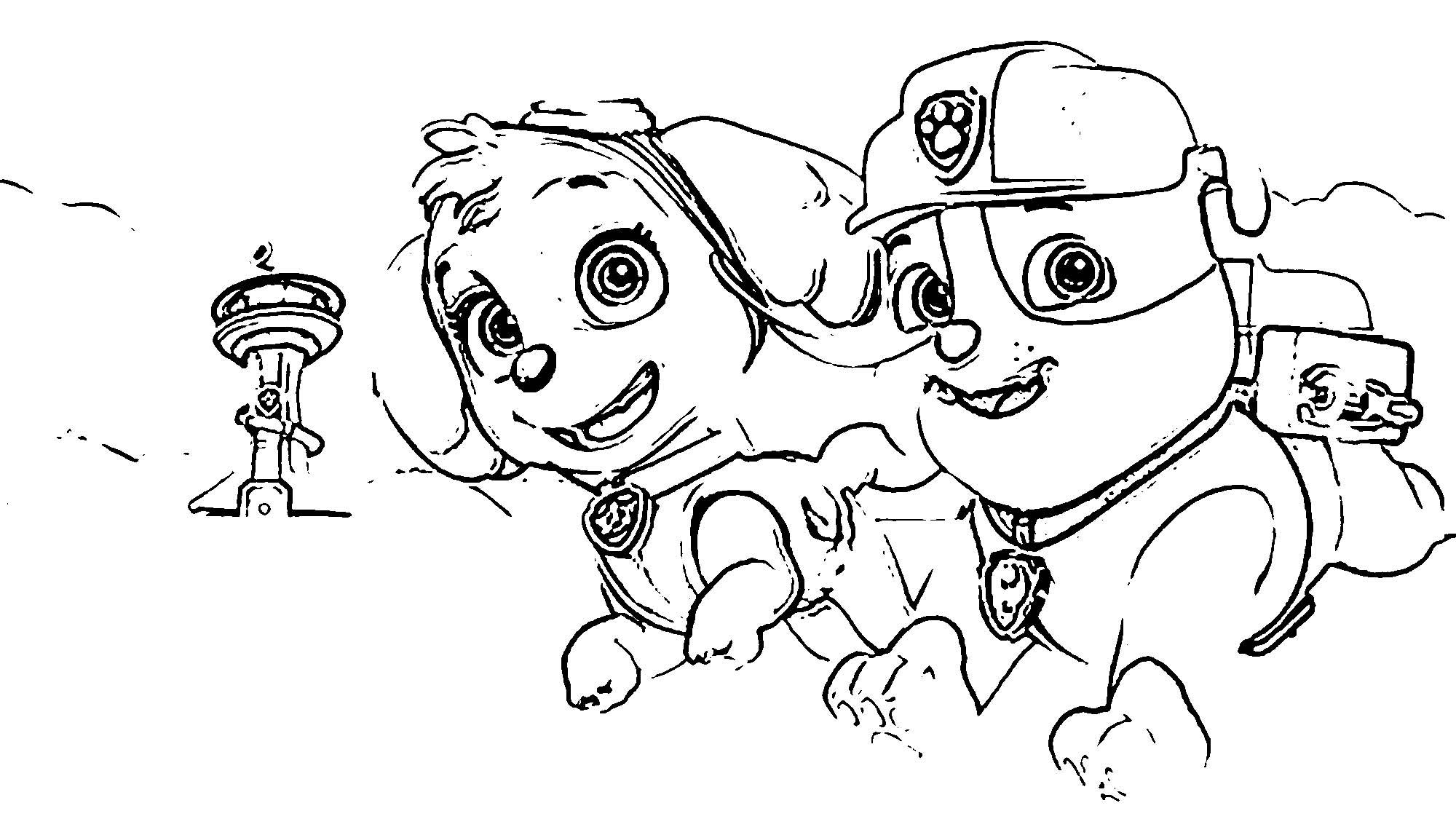 Paw Patrol Video App Coloring Page