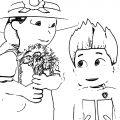 Paw Patrol Wedding X Coloring Page